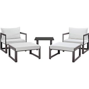 Fortuna 5 Piece Outdoor Patio Sectional Sofa Set