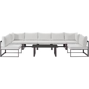 Fortuna 8 Piece Outdoor Patio Sectional Sofa Set