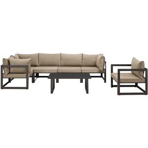 Fortuna 7 Piece Outdoor Patio Sectional Sofa Set