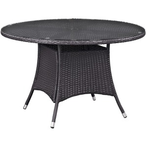 """Convene 47"""" Round Outdoor Patio Dining Table"""
