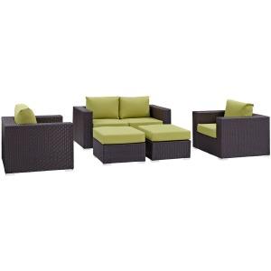 Convene 5 Piece Outdoor Patio Sofa Set
