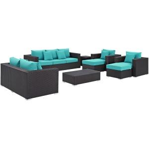 Convene 9 Piece Outdoor Patio Sofa Set