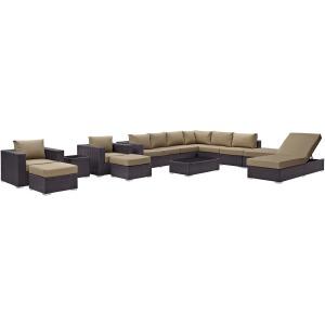 Convene 12 Piece Outdoor Patio Sectional Set