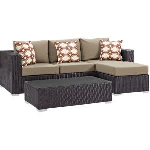 Convene 3 Piece Outdoor Patio Sofa Set