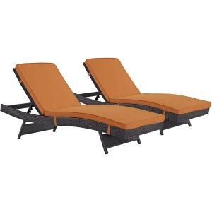 Convene Chaise Outdoor Patio Set of 2