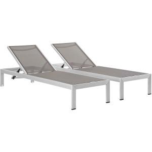 Shore Chaise Outdoor Patio Aluminum Set of 2