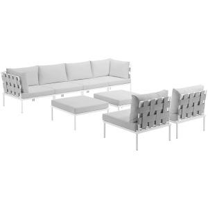 Harmony 8 Piece Outdoor Patio Aluminum Sectional Sofa Set
