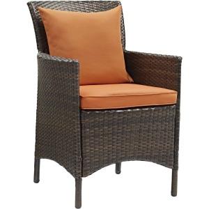 Conduit Outdoor Patio Wicker Rattan Dining Armchair