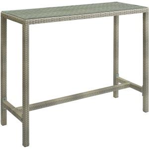 Conduit Outdoor Patio Wicker Rattan Large Bar Table