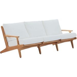 Saratoga Outdoor Patio Premium Grade A Teak Wood Sofa
