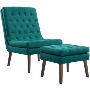 Modify Upholstered Lounge Chair and Ottoman