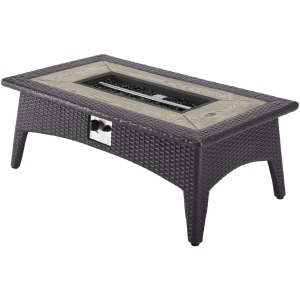 "Splendor 43.5"" Rectangle Outdoor Patio Fire Pit Table"