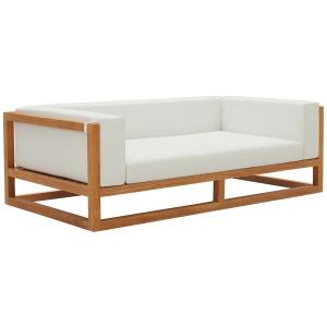 Newbury Accent Lounge Outdoor Patio Premium Grade A Teak Wood Sofa