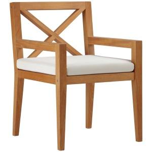Northlake Outdoor Patio Premium Grade A Teak Wood Dining Armchair