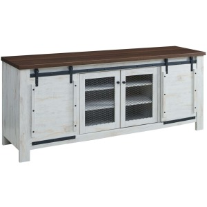 RUSTIC SLIDING DOOR TV STAND