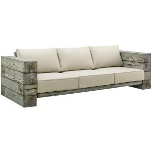 Manteo Rustic Coastal Outdoor Patio Sunbrella  Sofa