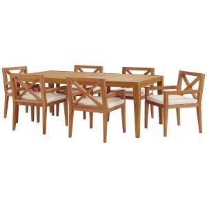 Northlake 7 Piece Outdoor Patio Premium Grade A Teak Wood Set