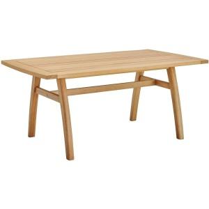 "Orlean 57"" Outdoor Patio Eucalyptus Wood Dining Table"