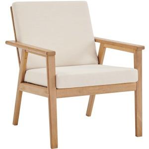 Vero Ash Wood Outdoor Patio Armchair