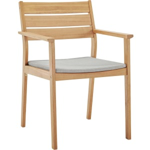 Viewscape Outdoor Patio Ash Wood Dining Armchair