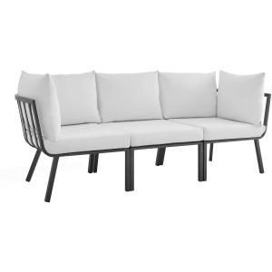 Riverside 3 Piece Outdoor Patio Aluminum Sectional Sofa Set