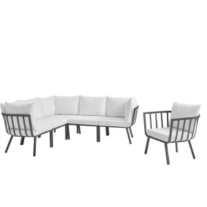 Riverside 6 Piece Outdoor Patio Aluminum Set