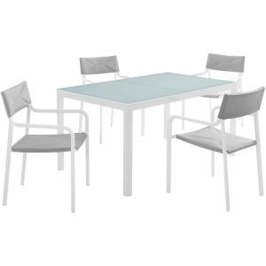 Raleigh 5 Piece Outdoor Patio Aluminum Dining Set
