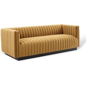 Conjure Channel Tufted Velvet Sofa