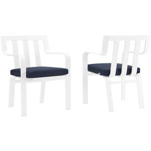 Baxley Outdoor Patio Aluminum Armchair Set of 2