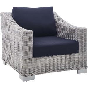 Conway Sunbrella Outdoor Patio Wicker Rattan Armchair