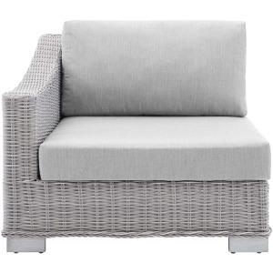 Conway Sunbrella Outdoor Patio Wicker Rattan Left-Arm Chair