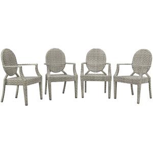 Casper Outdoor Patio Dining Armchair Set of 4