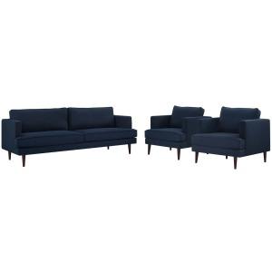Agile 3 Piece Upholstered Fabric Set