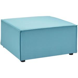 Saybrook Outdoor Patio Upholstered Sectional Sofa Ottoman