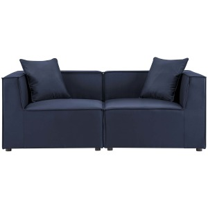 Saybrook Outdoor Patio Upholstered 2-Piece Sectional Sofa Loveseat