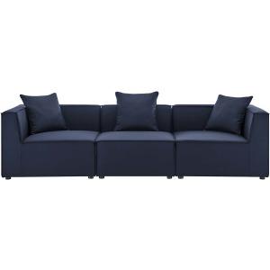Saybrook Outdoor Patio Upholstered 3-Piece Sectional Sofa