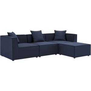 Saybrook Outdoor Patio Upholstered 4-Piece Sectional Sofa