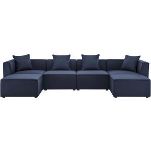Saybrook Outdoor Patio Upholstered 6-Piece Sectional Sofa