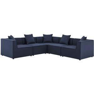 Saybrook Outdoor Patio Upholstered 5-Piece Sectional Sofa