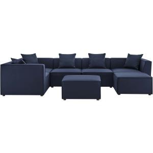 Saybrook Outdoor Patio Upholstered 7-Piece Sectional Sofa