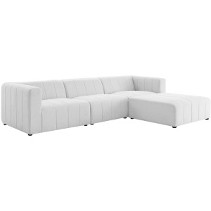 Bartlett Upholstered Fabric 4-Piece Sectional Sofa