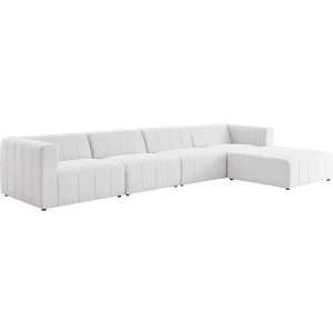Bartlett Upholstered Fabric 5-Piece Sectional Sofa