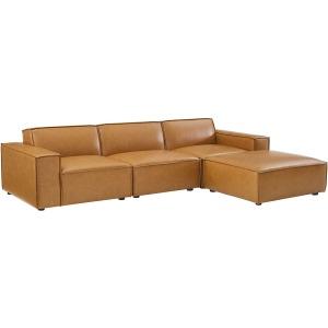 Restore 4-Piece Vegan Leather Sectional Sofa