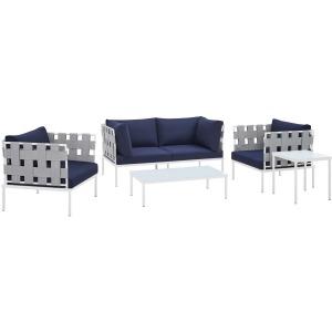 Harmony 5-Piece Sunbrella Outdoor Patio Aluminum Furniture Set