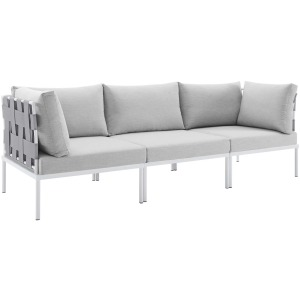 Harmony Sunbrella Outdoor Patio Aluminum Sofa