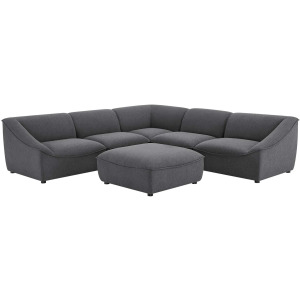 6 PCS. CHARCOAL SECTIONAL &