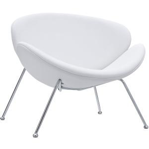 Nutshell Upholstered Vinyl Lounge Chair