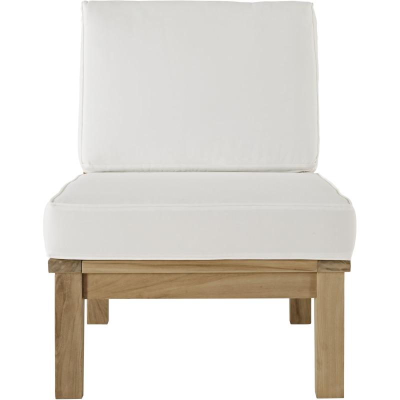 Marina Armless Outdoor Patio Teak Sofa