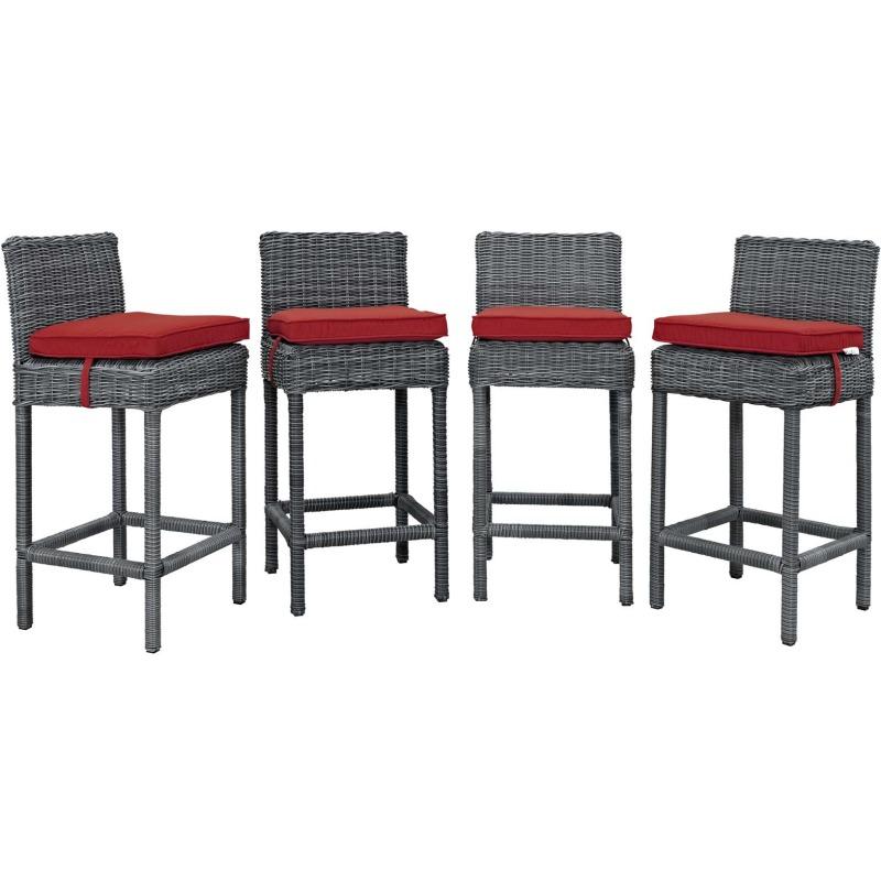 Summon Bar Stool Outdoor Patio Sunbrella® Set of 4