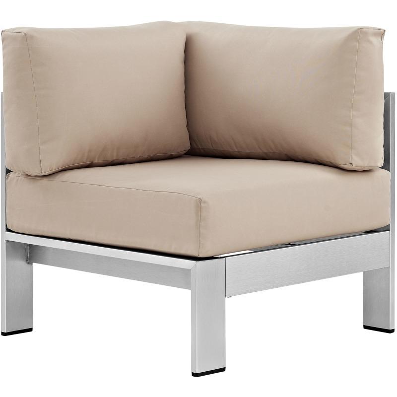 Shore Outdoor Patio Aluminum Corner Sofa